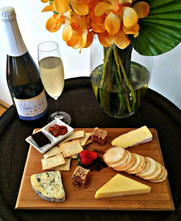 Cheeseboard and Sparkling Mead