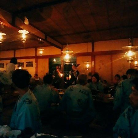 Lamp no Yado Aoni-onsen: 金曜日だったので津軽三味線のライブ。