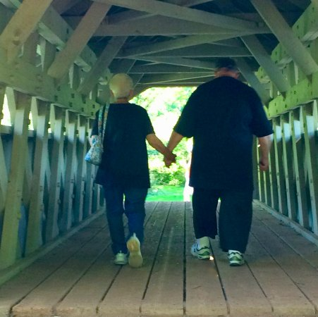 Waupaca, WI: 60th Anniversary and a slow stroll across the bridge, their favorite spot