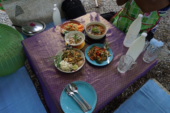 Saraphi, Thailand: The meal is ready. Novice cooks successful.