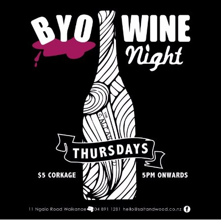 Salt & Wood Collective: BYO wine on Thursday nights