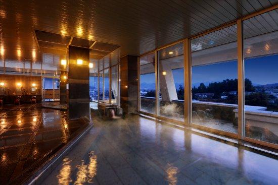 Kaminoyama, Japón: 【大浴場】城下町が広がる眺望と「かみのやま温泉」を存分に堪能する空間です♪
