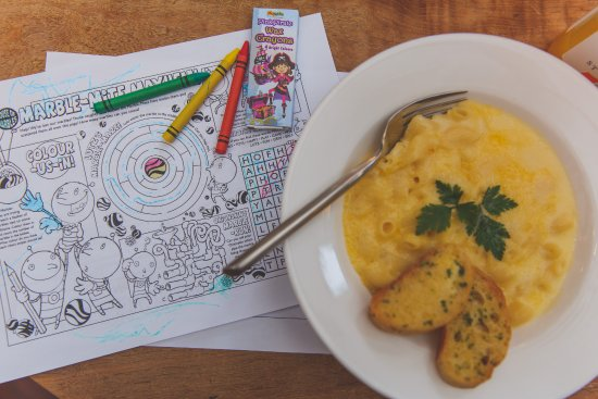 the old pottery children s menu comes with a colouring activity