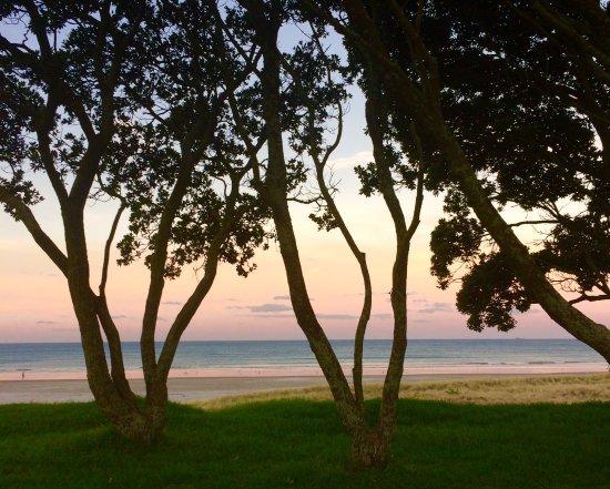 Sunset over Mount Maunganui beach