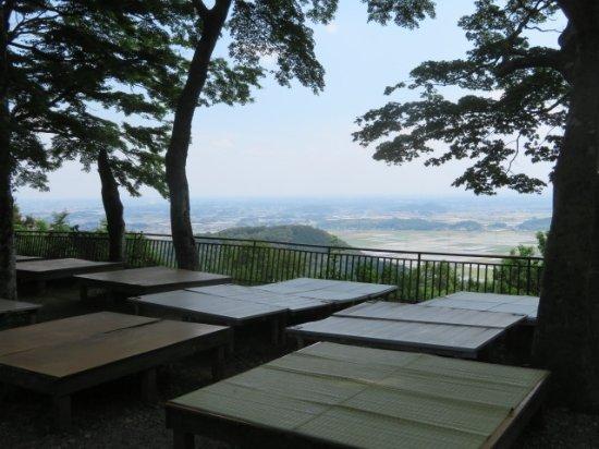 Ohira Moutain: 名物を食べながら眺望を楽しめます