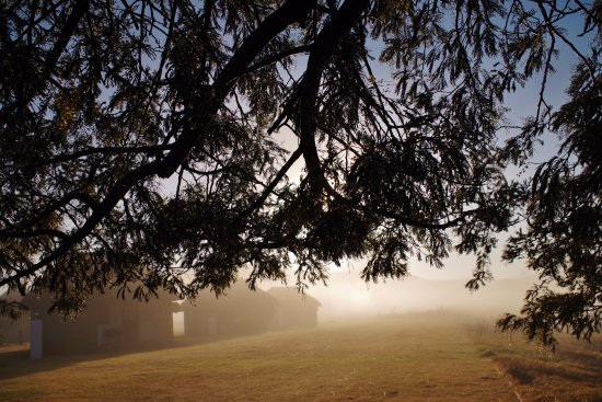 Bergville, Afrika Selatan: Amaneceres brumosos