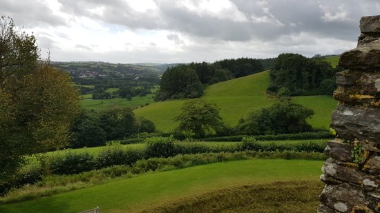 Lostwithiel, UK: One view from the castle