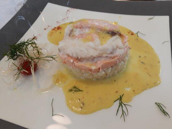 Gonfreville-l'Orcher, Francia: Duo de poisson sur risotto
