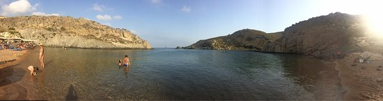Kythira Town, Hellas: The best beach of the island. Do not be discouraged by the rough road.