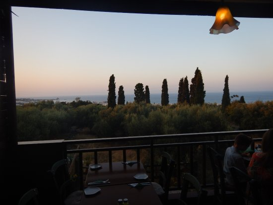 MEZES by Alex&Christine : Lovely view of sunset from Mezes balcony