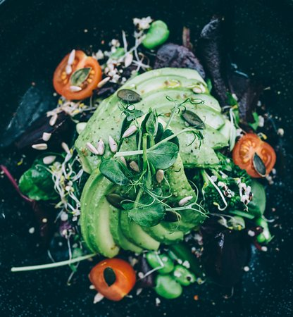 Burnham Market, UK: salad
