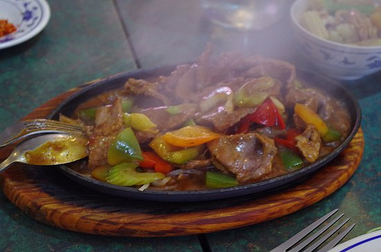 The Vietnamese: Sizzling Beef with Mongolian sauce