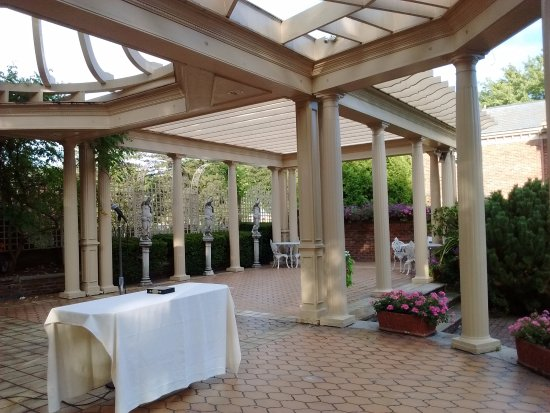 The Manor Restaurant: Outdoor area where the ceremony took place.