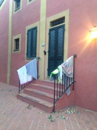 Calcinaia, إيطاليا: brutto da vedere. in piscina dovrebbero essere dati degli ascigamani per evitare tutto questo.