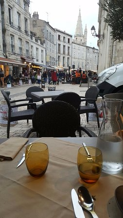 terrasse photo de le comptoir italien la rochelle tripadvisor. Black Bedroom Furniture Sets. Home Design Ideas