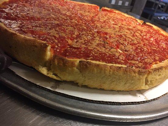 Iowa City, Iowa: Chicago Style stuffed pizza