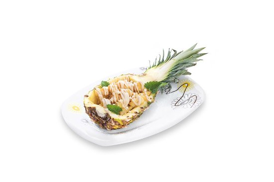 Jesenice, Slovenia: Gostilnica Chilli - pineapple with white chocolate