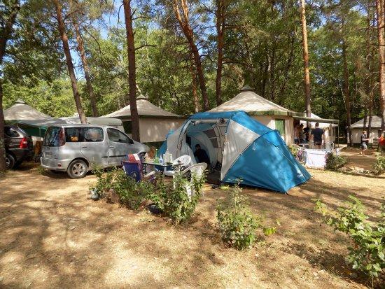 Vagnas, ฝรั่งเศส: the encampment