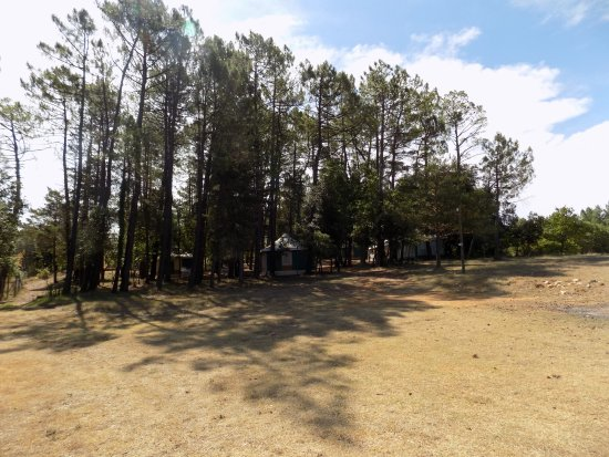 Vagnas, Frankrijk: Upper camping ground, for Bangalows and larger groups