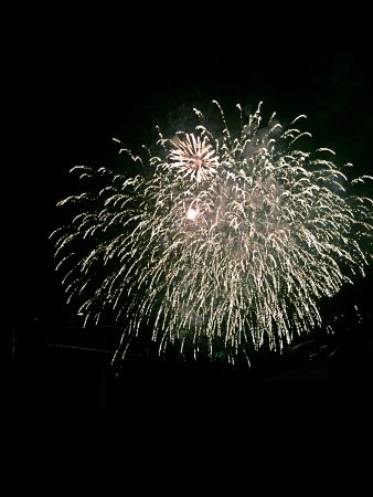 Star of the Sea B&B: Fire works of celebrate Canada 150 anniversary