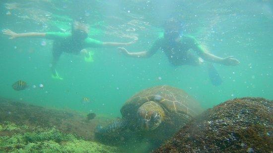 Puerto Villamil, Ecuador: mijn partner en ik