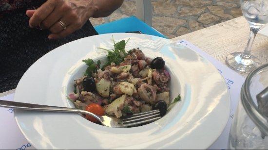 Pasman Island, Hırvatistan: Octopus salad