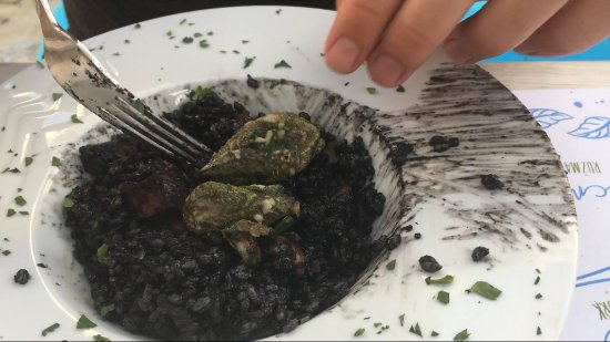 Pasman Island, Kroatië: Black risotto with cuttlefish