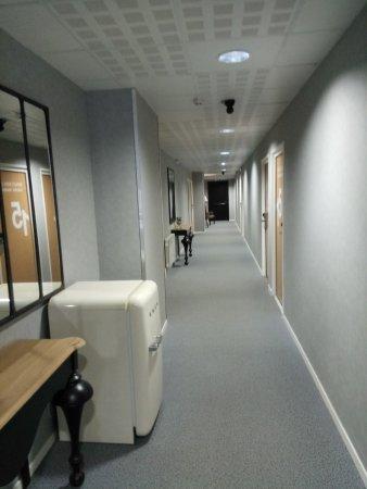 Hotel de la Baie de Wissant : Couloir principal (accès aux chambres)
