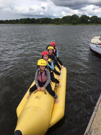 Lisnaskea, UK: Banana boat on the lake