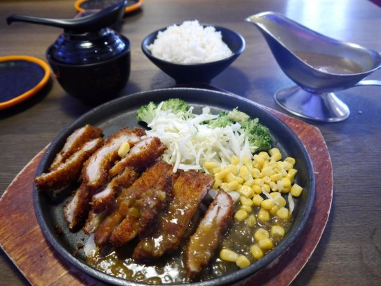 tori katsu with a great japanese curry sauce! yum! - picture of