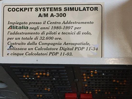 Somma Lombardo, Italy: Simulatore di volo Alitalia