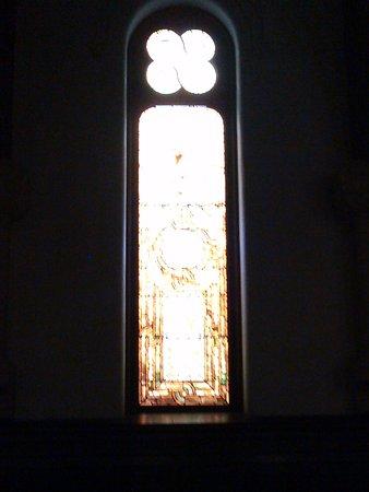 Willard Chapel: One of the many side windows in the chapel. Each window is unique.