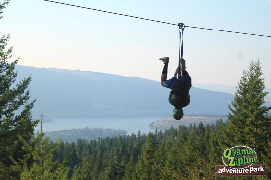 Lake Country, Canada: I was doing spiderman stunt. It was amazing