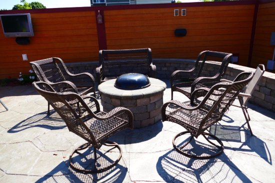 Cross Plains, WI: Warm up with friends around our fire pit!