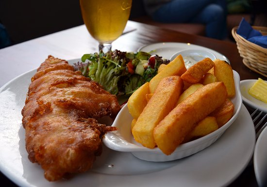 Lochearnhead, UK: Fish and Chips