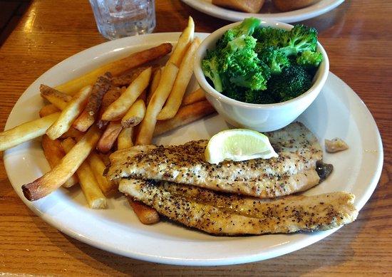 Effingham, IL: Grilled trout.