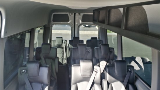 Cedar City, UT: Our Mercedes Benz Sprinters. Lots of room and overhead storage