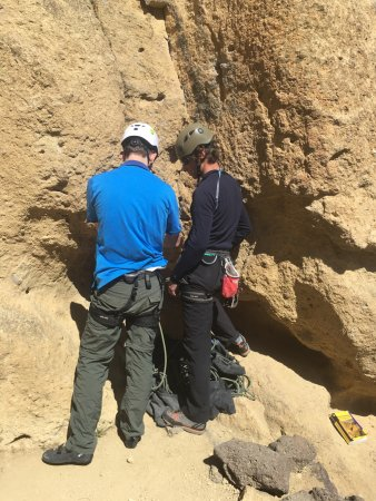 Terrebonne, OR: Gabe teaching us lead climbing