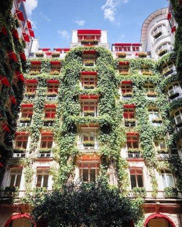 La cour jardin paris champs lys es restaurant for Paris restaurant jardin