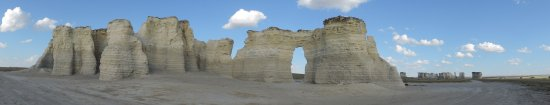 Oakley, KS: Monument Rocks, panorama.
