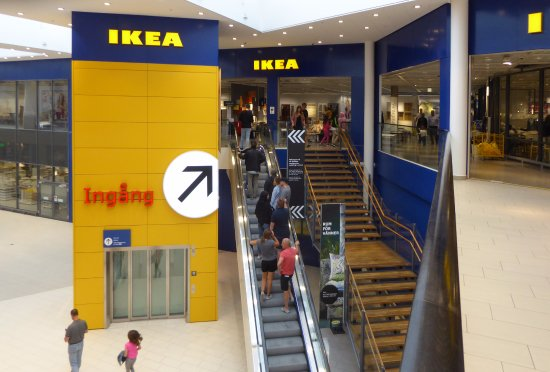 ikea västerås karta IKEA entré   Bild från Erikslund Shopping Center, Västerås  ikea västerås karta