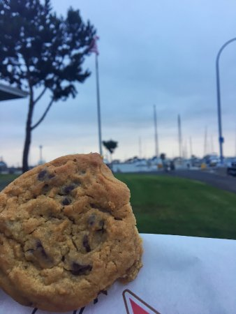 San Leandro, CA: The complimentary cookies while strolling around the marina.