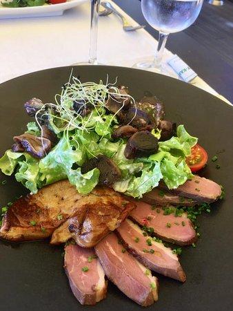 Morges, Schweiz: salade landaise