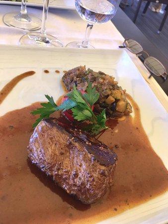 Morges, Schweiz: filet d'Angus sauce aux 5 poivres