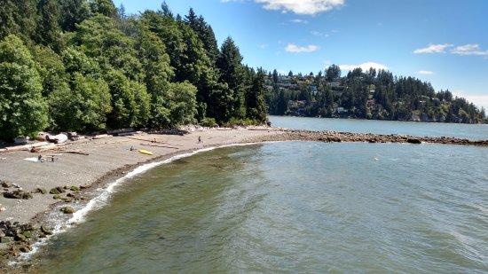 West Vancouver, Canada: praia tranquila