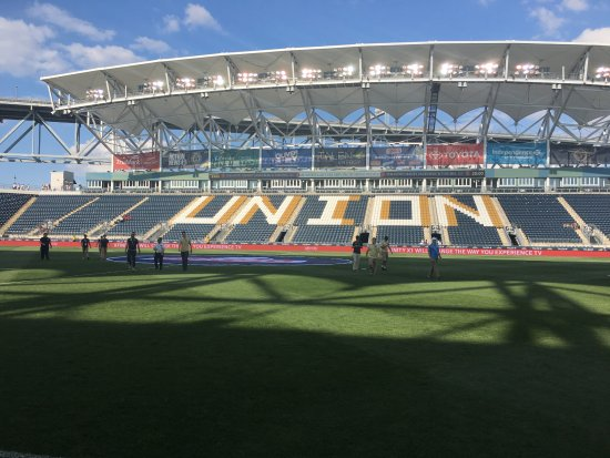 Talen Energy Stadium: Fieldlevel view