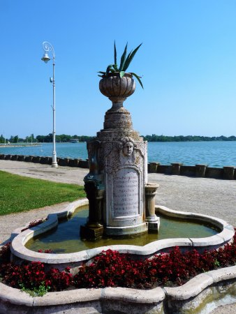 Palic, Serbia: The memorial fountain