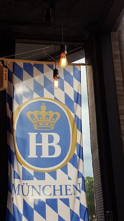 Richmond, IL: I'd recently visited Munich, so really enjoyed seeing this banner inside the restaurant.