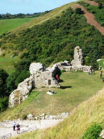 The ruins of Corfe Castle.