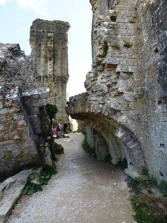 The ruins of Corfe Castle.